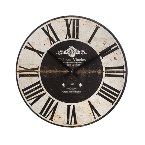 Atmosphera Créateur d'intérieur®  Atmosphera Créateur d'intérieur® Wandklok Cafe - 28 cm - Woonkamer Klok Industrieel - Landelijke wandklok - Keukenklok - Vintage Klok