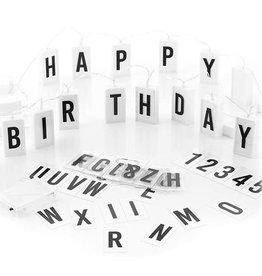 Roxan Ledslinger met 70 Letters Nummers -230 cm