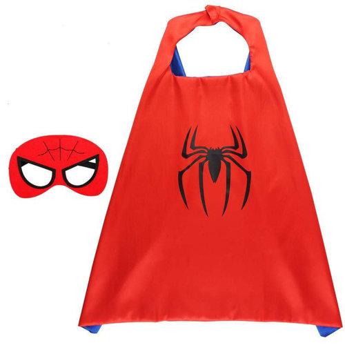 Superhelden Verkleedpak - 5 Pack - Superman/ Batman/Spiderman cape + masker +  gratis Spiderman fotolijst - One Size - maat 98 /128 - 3/9 jaar