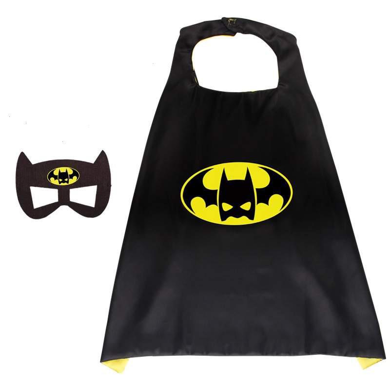 Superhelden Verkleedpak - 5 Pack - Superman/ Batman/Spiderman cape + masker + gratis Spiderman gymtas - One Size - maat 98 /128 - 3/9 jaar