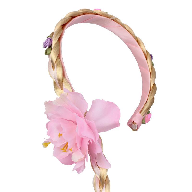 Prinsessen felroze accessoireset - juwelen, toverstaf, kroon, elleboog handschoenen