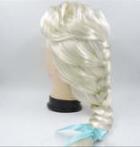 Frozen 2 Elsa Pruik met lange vlecht met elastisch haarnetje