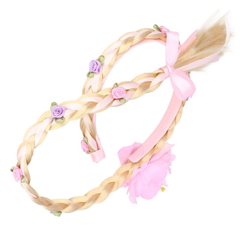Goudkleurig / roze prinsessen accessoireset - toverstaf, kroon, ketting, handschoenen