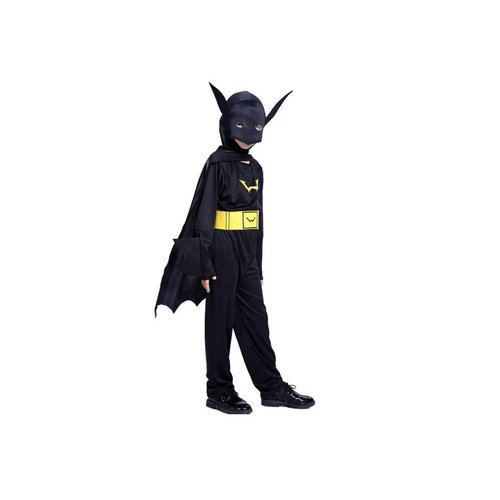 Batman verkleedpak jumpsuit 4/6 (M), 7/10 (L), 11/14 jaar(XL)