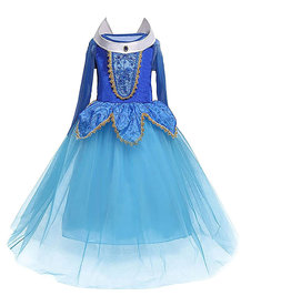 Aurora prinsessenjurk - luxe - BLAUW