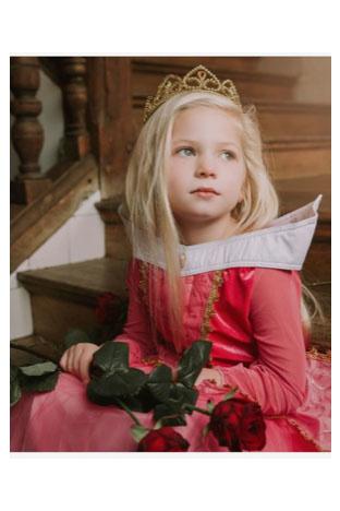 Aurora  Prinsessenjurk - luxe maat 98, 104/110, 110/116, 122/128, 134/140