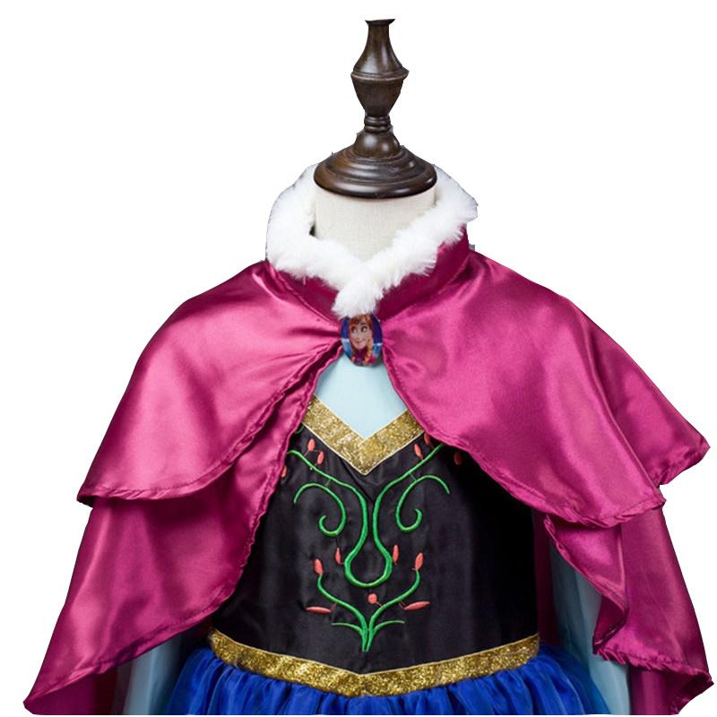 Het Betere Merk Frozen Anna jurk roze cape luxe + gratis accessoires 98, 104, 110, 116, 122, 128, 134, 140