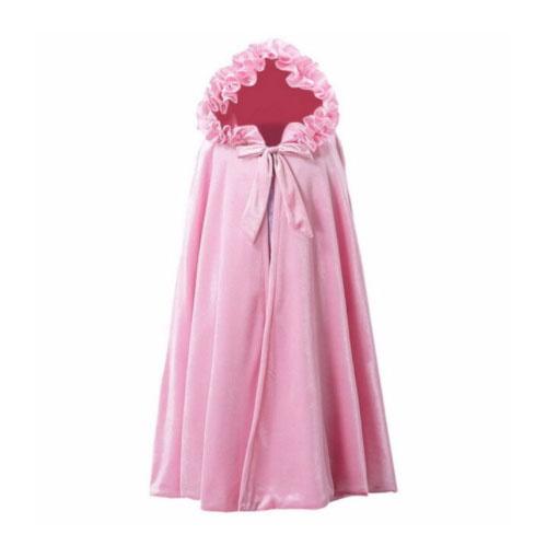 Het Betere Merk Roze  lange prinsessen cape met vaste capuchon  - maat M, L