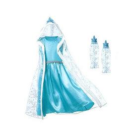 Het Betere Merk Frozen Elsa verkleedjurk Luxe - losse cape + mouwen