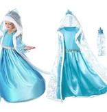 Het Betere Merk Frozen Elsa verkleedjurk losse cape + mouwen 98/104, 110, 116/122, 128/134