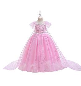 Het Betere Merk Frozen Elsa Deluxe Birthday roze prinsessen jurk