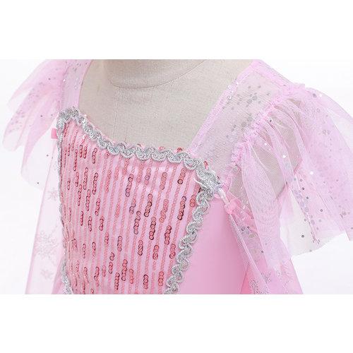 Het Betere Merk Frozen Elsa Roze Prinsessenjurk + Gratis Accessoires