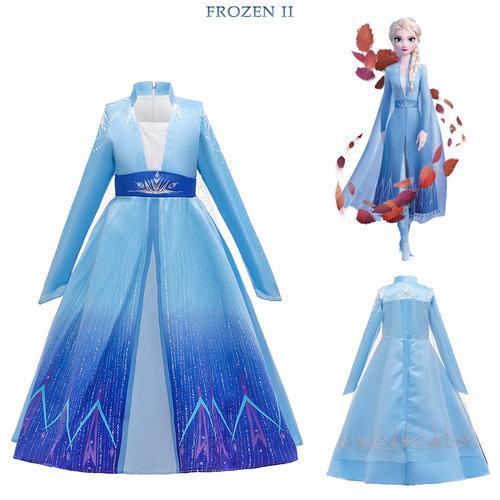 Het Betere Merk Elsa Jurk - Prinsessenjurk Meisje - Frozen Jurk - Prinsessen verkleedkleding + GRATIS Elsa Accessoires 104/110, 110/116, 122/128, 134/140, 146/152