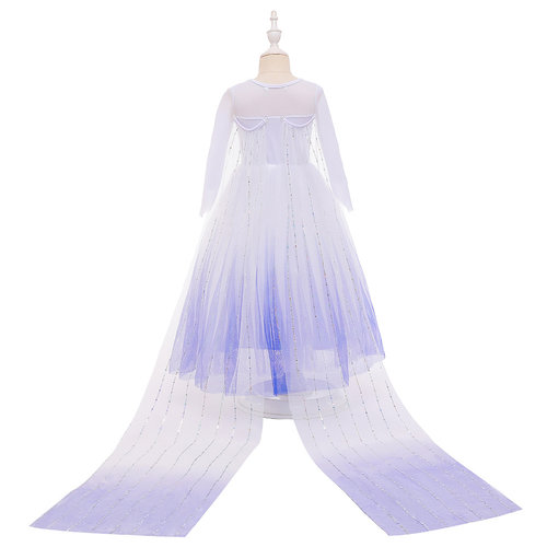 Frozen 2 Elsa jurk - cape - Deluxe verkleedjurk + gratis 5-delig accessoireset 98/104, 110, 116/122, 128/134, 140
