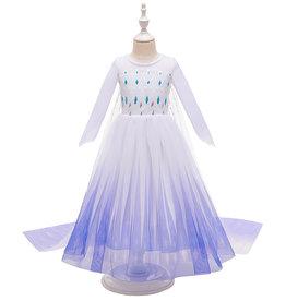 Frozen 2 Elsa jurk - cape - Deluxe verkleedjurk + gratis 5-delig accessoireset