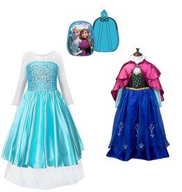 Frozen Anna en Elsa jurk + gratis Frozen pluchen rugzak