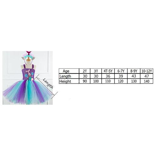 Het Betere Merk Zeemeermin  jurk - Prinsessen Verkleedkleding | Blauw + GRATIS haarband