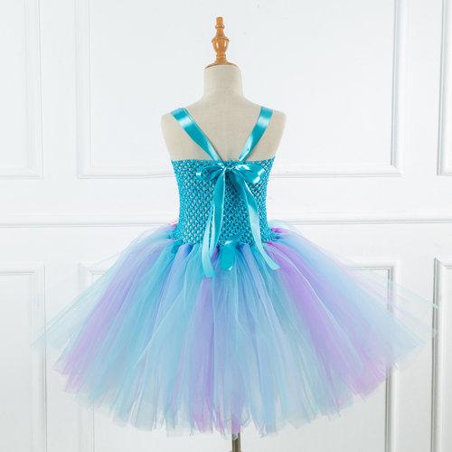 Het Betere Merk Unicorn jurk - Eenhoorn jurk - Prinsessen Verkleedkleding | Blauw + GRATIS haarband maat 104/110, 116/122, 122/128, 134/140, 146/152