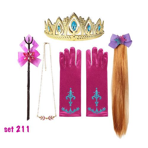Elsa accessoires - Toverstaf - Ketting - Haarvlecht  - Armband - Verkleedaccessoires