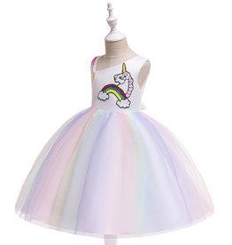 Het Betere Merk Unicorn Jurk - Eenhoorn Jurk - Verkleedkleding Kind - Prinsessen Jurk | Paars