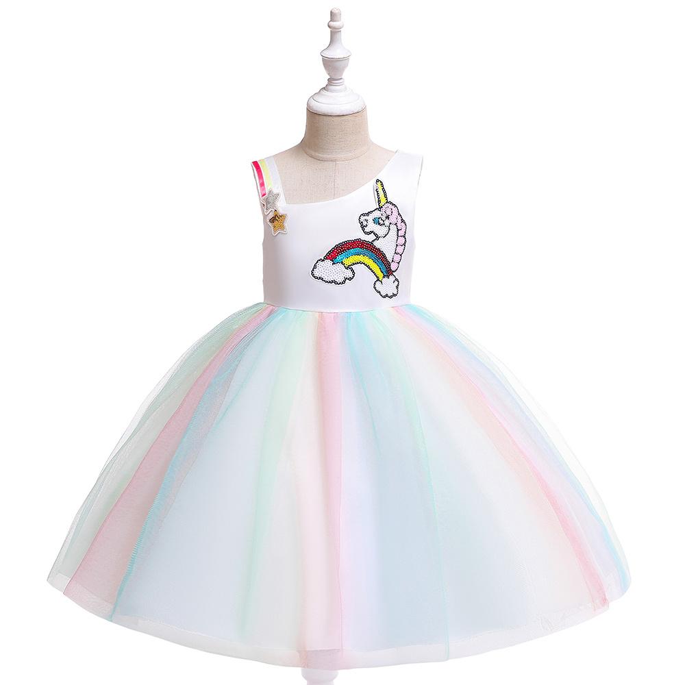 Het Betere Merk Unicorn Jurk - Eenhoorn Jurk - Verkleedkleding Kind - Prinsessen Jurk | Geel maat 98/104, 110, 116/122, 128/134, 140  - Copy - Copy