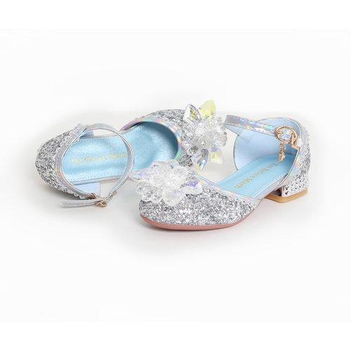 Elsa / Anna schoenen - Prinsessen schoenen - Verkleedschoenen | Zilver + Toverstaf + Kroon maat 26, 27, 28, 29, 30, 31, 32, 33, 34, 35