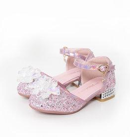 Het Betere Merk Elsa / Anna schoenen - Prinsessen schoenen | Roze + Toverstaf + Kroon