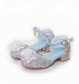 Elsa / Anna schoenen - Prinsessen schoenen - Verkleedschoenen | Zilver + Toverstaf + Kroon