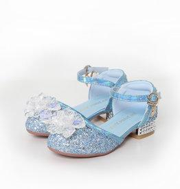 Het Betere Merk Elsa / Anna schoenen - Prinsessen schoenen - Verkleedschoenen | Blauw + Toverstaf + Kroon