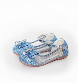 Het Betere Merk Elsa / Anna schoenen - Prinsessen schoenen | Blauw + Toverstaf + Kroon