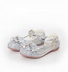 Het Betere Merk Elsa / Anna schoenen - Prinsessen schoenen - Verkleedschoenen | Zilver + Toverstaf + Kroon