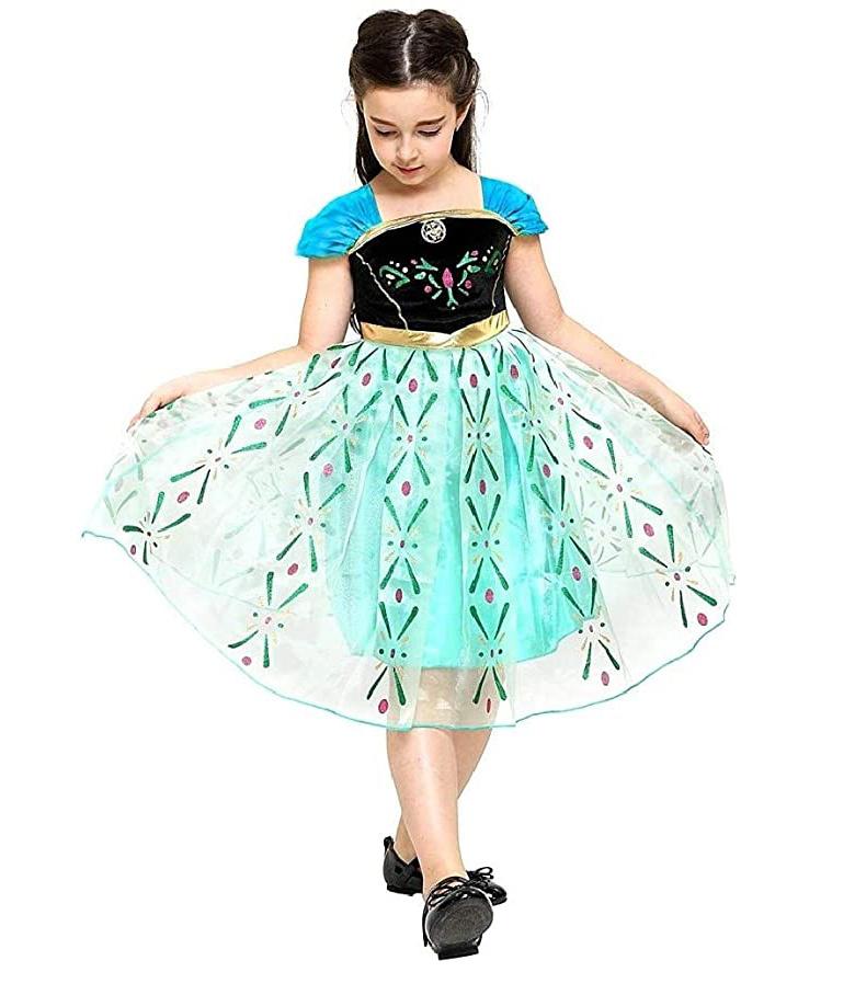 Frozen Anna en Elsa jurk + gratis Frozen accessoireset  92/98, 98/104, 110, 116/122, 128/134