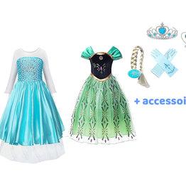 Frozen Anna en Elsa jurk + gratis Frozen accessoireset