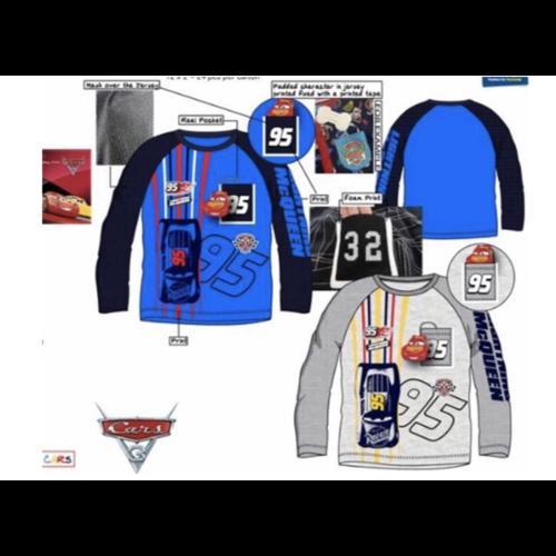 Disney Cars Shirt - 2 kleuren, Blauw/Grijs, 98, 104, 110, 116