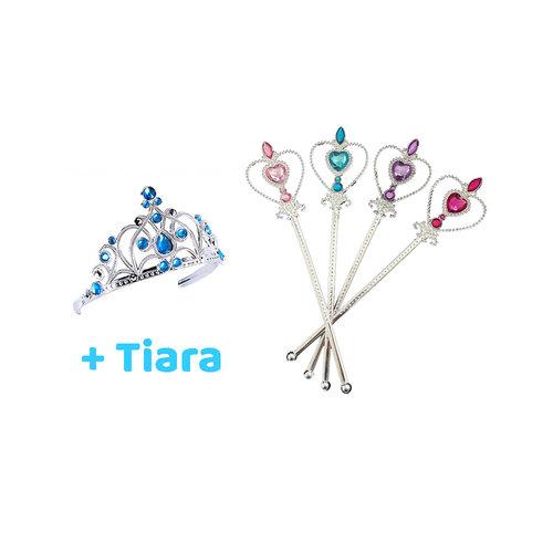 Prinsessen  5-Pack Toverstaf - 4 x Toverstaf - Gratis Kroon