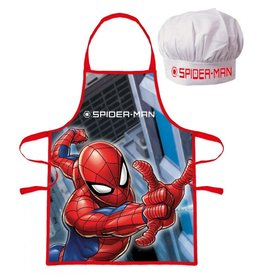 spiderman Spiderman Keukenset - Kookset - Schort / Muts  - Gratis 5-delig Schoolset