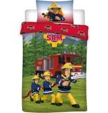 Brandweerman Sam Brandweerman Sam dekbedovertrek 140x200 cm + Gratis Brandweerman Sam Gymtas