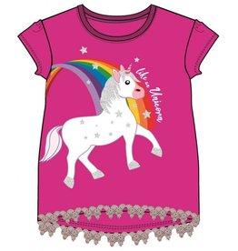 Unicorn Fuchsia - Donkerroze Shirt
