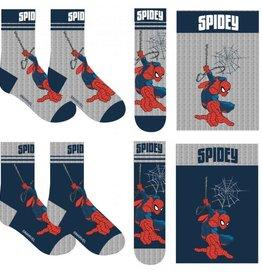 spiderman Spiderman 2 paar sokken maat 23/26, 27/30, 31/34 + Hanger