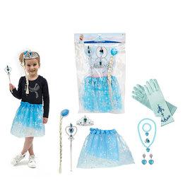 Elsa Prinsessenset - Rok - Toverstaf - Kroon - Juwelen - Handschoenen