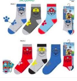 Paw Patrol 6 paar sokken + gratis LED muursticker