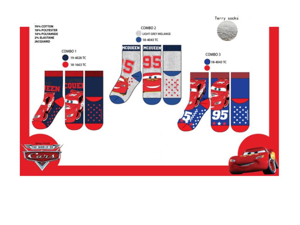 Disney Cars 3 paar sokken met anti-slip zool  + Gratis Cars gymtas