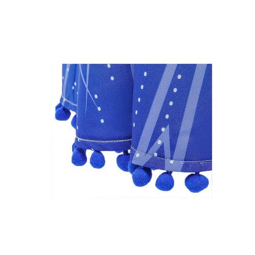 Frozen 2 Elsa blauwe verkleedjurk, onderjurk, broek + gratis  4-delig accessoireset 92/98, 104/110, 116/122, 122/128, 134/140, 146/52