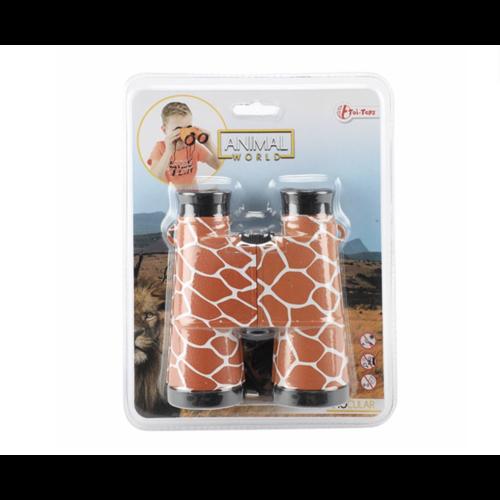 Toi-Toys Dieren verrekijker met dierenhuidprint 4 soorten