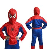Spinnenheld/Spiderman verkleedpak + Spiderman Cape / Masker 4/6, 7/10, 11/14 jaar
