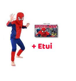 Spinnenheld/Spiderman verkleedpak + gratis Spiderman etui