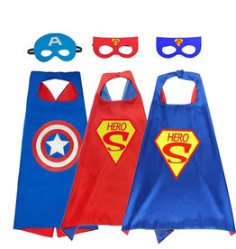Superhelden Verkleedpak - 3 Pack - Superman, Captain America cape + masker