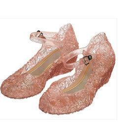 Elsa / Anna schoenen - Prinsessen schoenen - Verkleedschoenen - GRATIS Toverstaf + Kroon | Roze