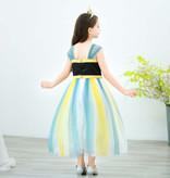 Frozen Anna luxe jurk + Gratis Kroon - Anna Verkleedjurk