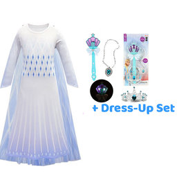Frozen 2 Elsa verkleedjurk - cape + Dress-Up set